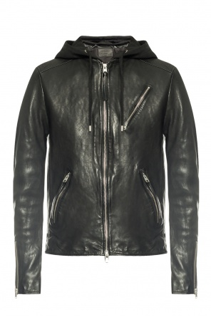 'harwood' leather jacket od AllSaints