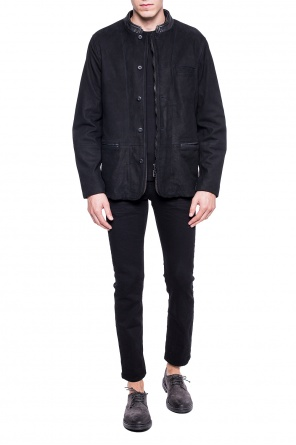 'headen' jacket with band collar od AllSaints
