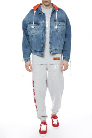 Hooded denim jacket od Heron Preston