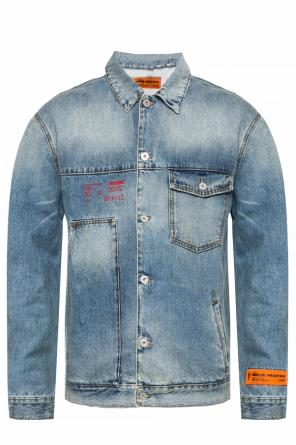 Raw-edge denim jacket od Heron Preston