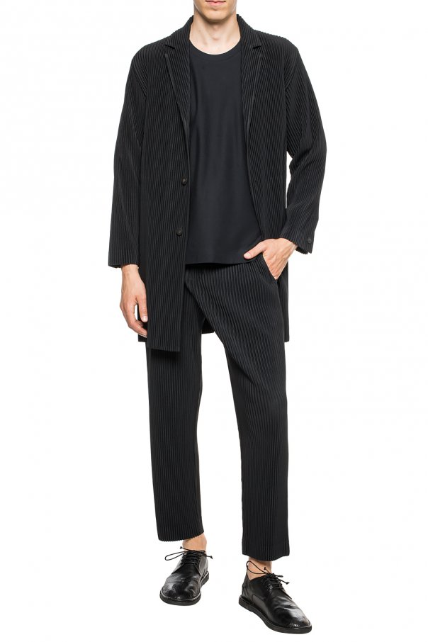 Ribbed coat with notch lapels od Issey Miyake Men