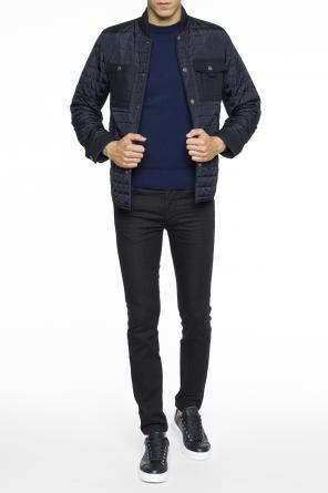 Band collar quilted jacket od Diesel Black Gold