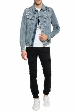 Raw edge denim jacket od Diesel Black Gold