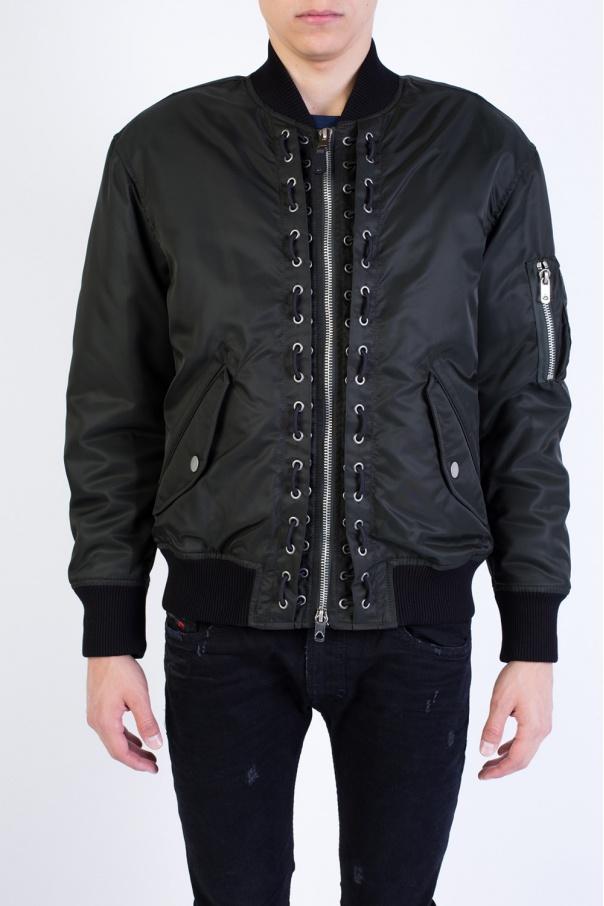 6b7f6b84e Stitching details bomber jacket Diesel Black Gold - Vitkac shop online