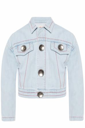 Denim jacket with stitching details od Marni