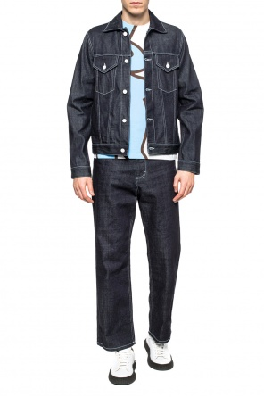 Printed denim jacket od Marni