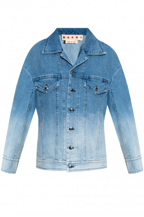 Denim jacket with ombre od Marni