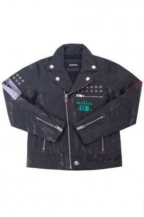 Patched biker jacket od Diesel