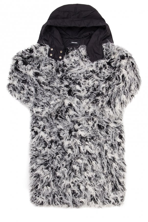 Hooded fur coat od Diesel