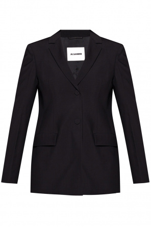 Wool blazer with notch lapels od JIL SANDER+
