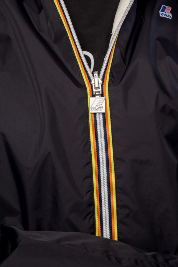 'lily' reversible jacket with logo od K-WAY
