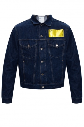 Denim jacket with logo od Helmut Lang