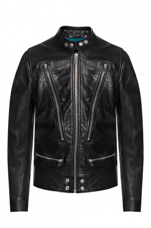 Leather jacket with pockets od Diesel