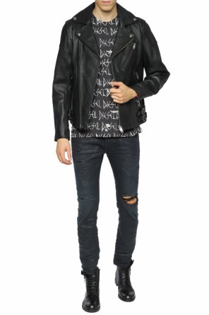 Leather biker jacket od Diesel