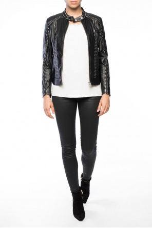 Leather jacket with studs od Diesel