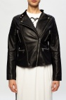 Diesel Band collar leather jacket