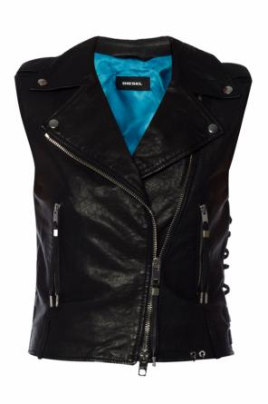 Biker vest with lacing details od Diesel