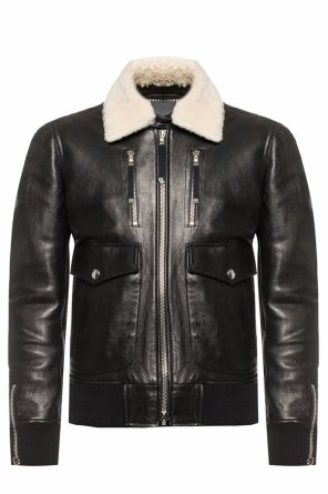 Fur collar jacket od Diesel Black Gold