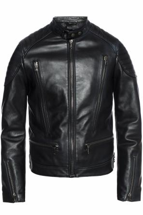 Biker jacket with stitching details od Diesel Black Gold