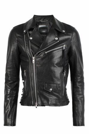Leather biker jacket od Diesel Black Gold for VITKAC