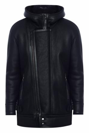 Hooded shearling jacket od Diesel Black Gold