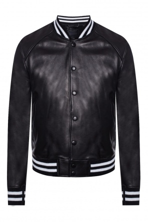 Leather bomber jacket od Diesel Black Gold