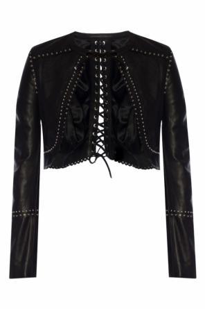 Appliquéd cropped jacket od Diesel Black Gold