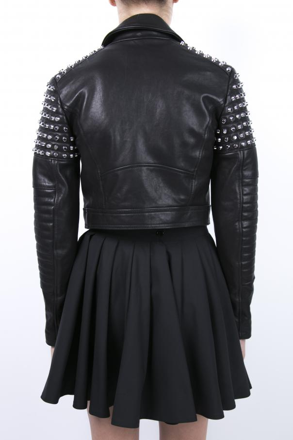 Studded leather biker jacket od Diesel Black Gold