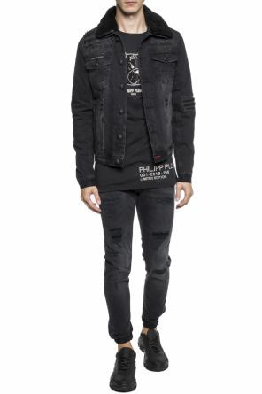 Insulated jacket with an embroidered logo od Philipp Plein
