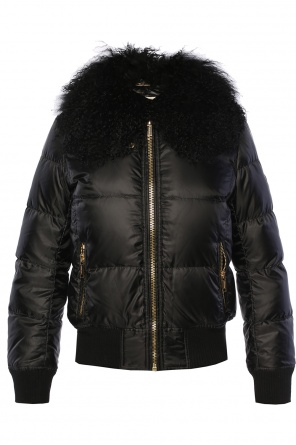 Detachable collar quilted jacket od Michael Kors
