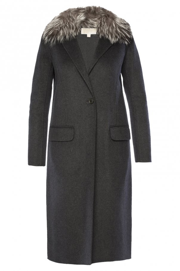 Fur collar coat od Michael Kors