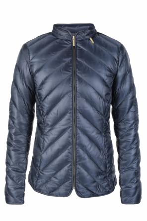 Band collar quilted jacket od Michael Kors