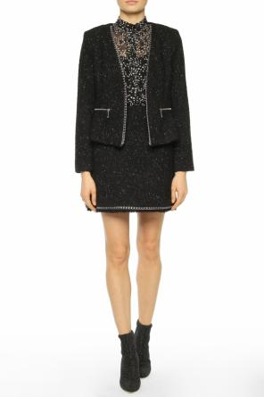 Metallic thread jacket od Michael Kors