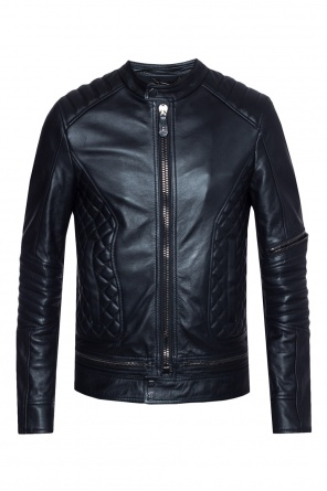 Leather biker jacket od Philipp Plein