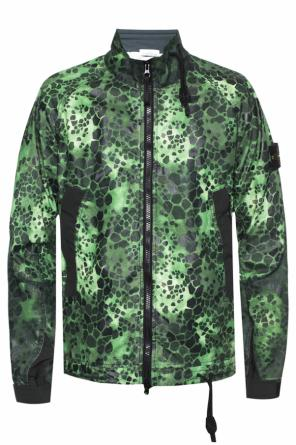 Patterned jacket with band collar od Stone Island