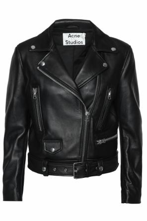 Leather biker jacket od Acne