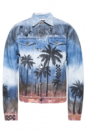 Printed denim jacket od Amiri