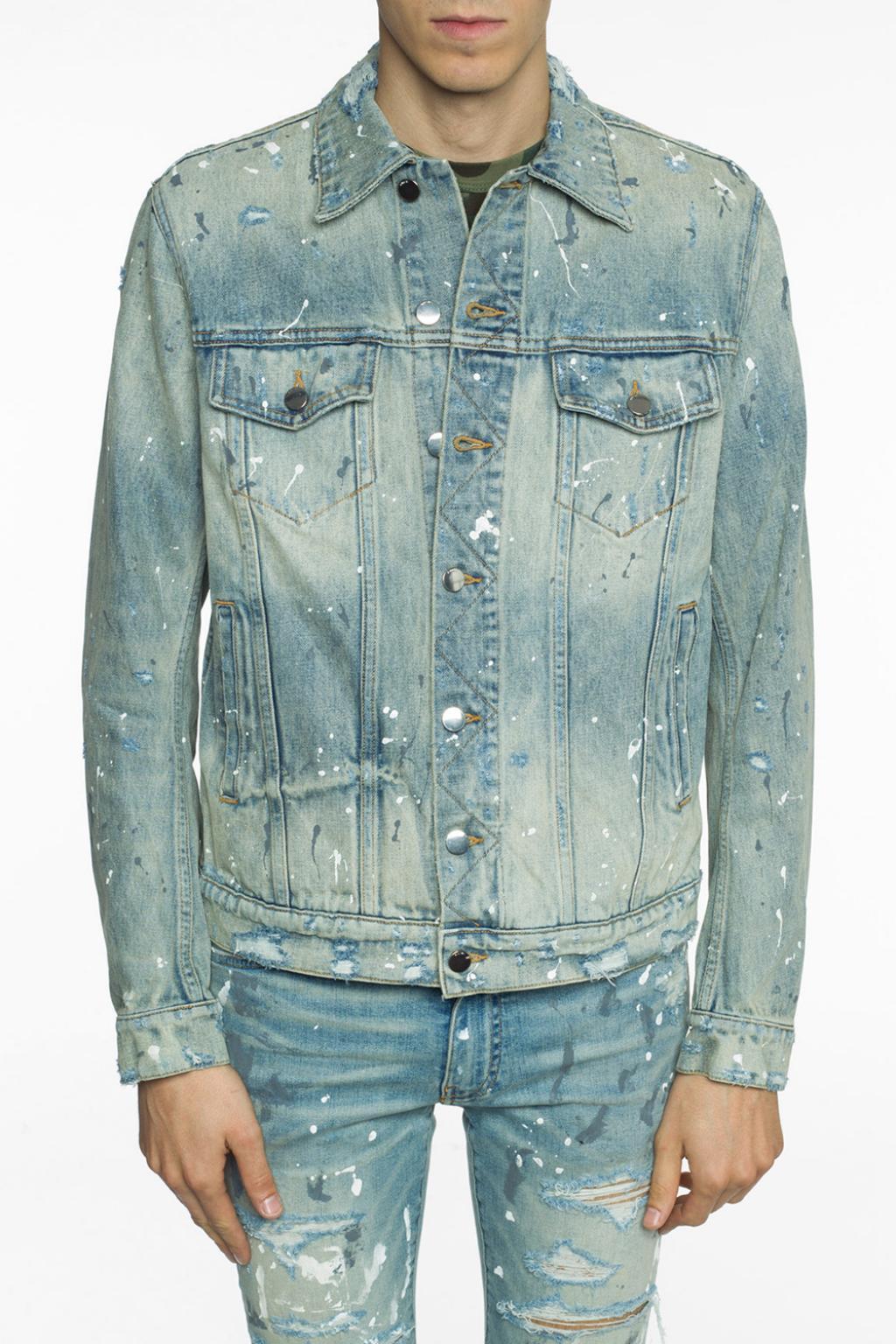 Paint splatter denim jacket Amiri   Vitkac Germany