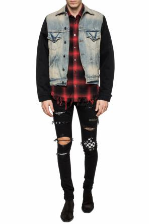 Padded denim jacket od Amiri
