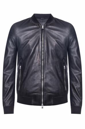 'mower bomber' leather jacket od AllSaints