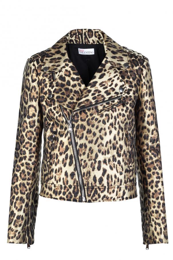 eccac1203990 Leopard print biker jacket Red Valentino - Vitkac shop online