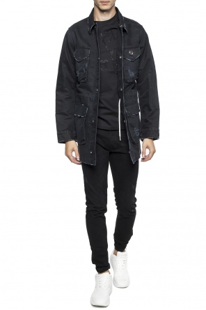 Jacket with a raw finish od Philipp Plein