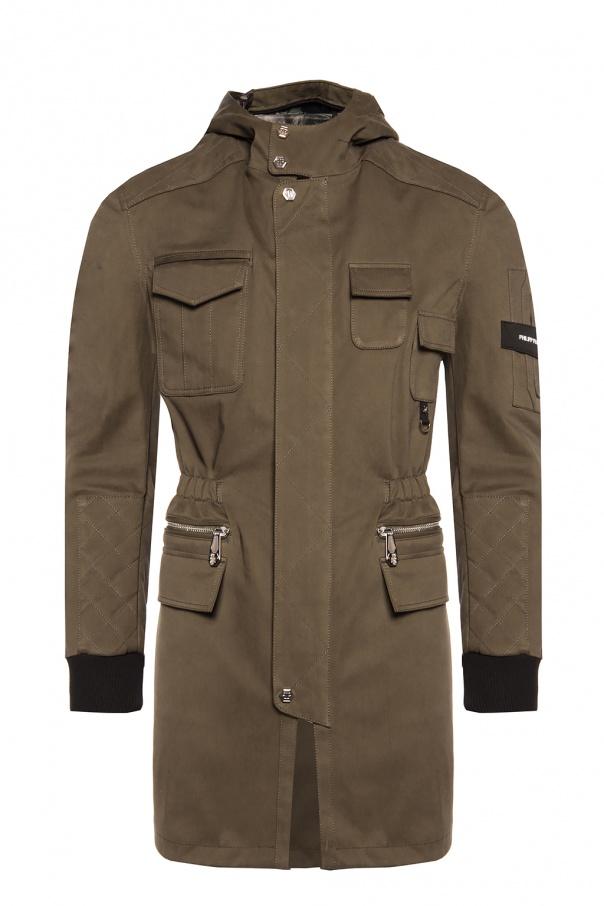 2ec0fddf4f3f6 Long hooded jacket Philipp Plein - Vitkac shop online