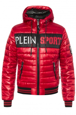 Printed quilted down jacket od Plein Sport