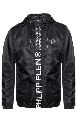 Rain coat with printed lettering od Philipp Plein