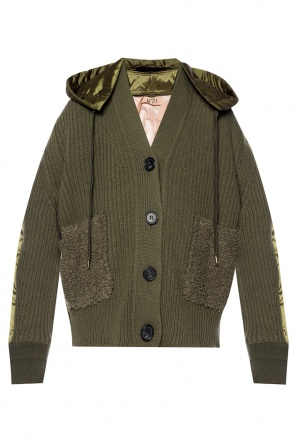 Jacket with a woolen front od N21
