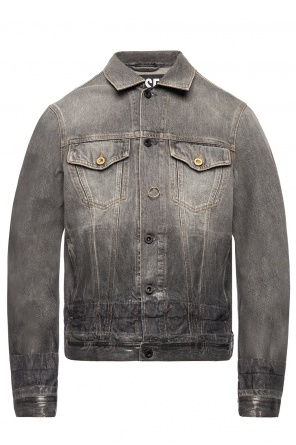 Distressed denim jacket od Diesel