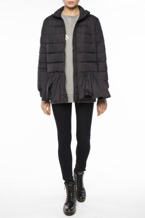 Down jacket with ruffle od Valentino Red