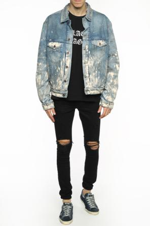 Paint-splatter denim jacket od Off White