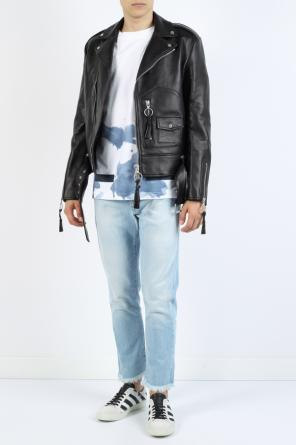 Printed biker jacket od Off White
